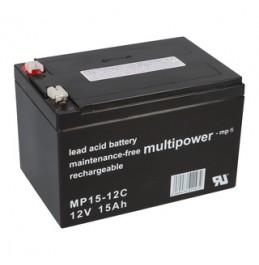 MultiPower 12V 15Ah süvatühjenev pliiaku