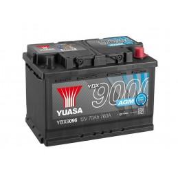 Yuasa YBX9096 12V 70Ah 760CCA AGM Start Stop Plus käivitusaku