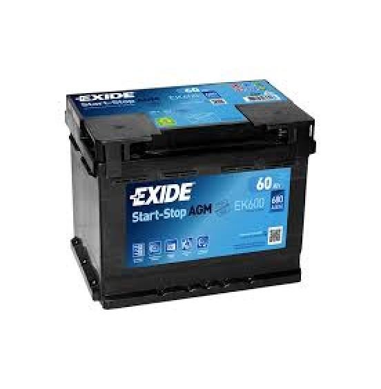 EXIDE AGM EK600 12V 60Ah